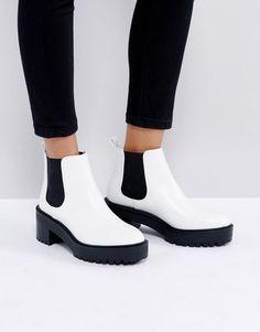 Pull&Bear Platform Boot - White