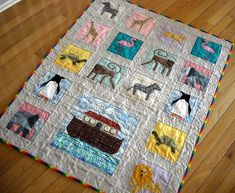 Noah's ark quilt! I'd love to make this! It could take forever to make!