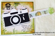 Simple and easy to follow instructions to make a interactive Sliding Camera Card. More hints, Tips and photos on my blog. http://birdcagecraftstudio.blogspot...