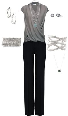 """silver to work"" by kschluter4 on Polyvore"