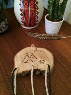 Native American Teepee Wall Hanging  Boho by theflowermoondesigns