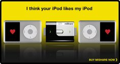 Sharing is caring. Finally an easier way to share music between iPod's. How did Mr. Jobs not think of this one?!?