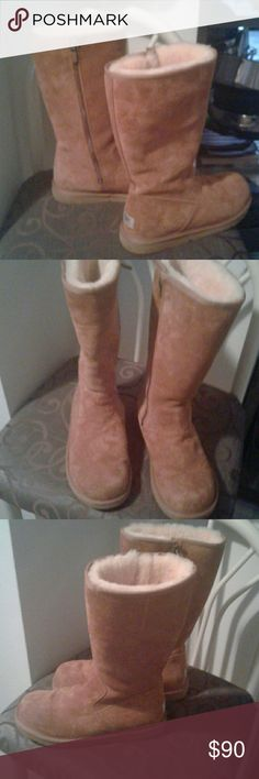 UGGS Authentic Clean, worn once in after snow storm.  Smoke free home. UGGS Shoes Ankle Boots & Booties