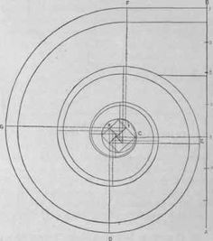 """Fig. 226. - To Draw an Ionic Volute.""""The New Metal Worker Pattern Book"""", by George Watson Kittredge."""