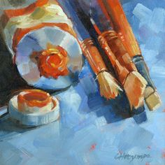 "Daily Paintworks - ""Neglected Tools"" - Original Fine Art for Sale - © Carol Horzempa Beautiful Paintings, Easy Paintings, Scale Art, Artist Art, Art Studios, Painting Inspiration, Flower Art, Art Drawings, Art Pieces"