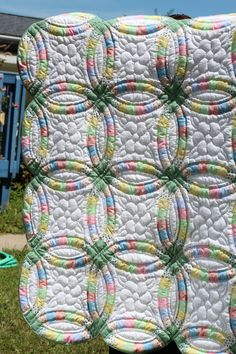Hand Stitched Double Wedding Ring Quilt By MarthaPearceQuilt 7500