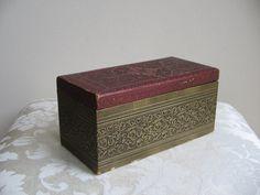Vintage Box Embossed Medallion Fleur de Lis by vintagenowandthen, $18.00