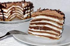 Egy finom Mogyorókrémes-tejszínhabos palacsintatorta ebédre vagy vacsorára? Mogyorókrémes-tejszínhabos palacsintatorta Receptek a Mindmegette.hu Recept gyűjteményében! Hungarian Cuisine, Sweet Desserts, Fudge, Cake Recipes, Delish, Food And Drink, Cooking Recipes, Favorite Recipes, Sweets