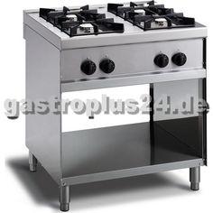 Simple Gasherd Flammen Pilotflamme offener Unterbau Gastronomiebedarf bei gastroplus