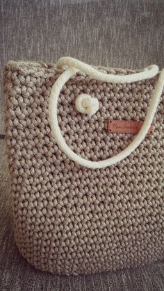 Handbags Rope bag knited bag Diaper Bags crochet bag by 2stitch
