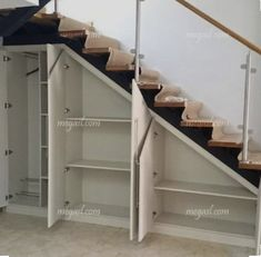 Awesome Cool Ideas To Make Storage Under Stairs 1 Basement Stai. Awesome Cool Ideas To Make Storage Under Stairs 1 Basement Stairs Awesome basementremodel cool ideas Stairs storage Staircase Storage, Staircase Design, Cabinet Under Stairs, Storage Under Staircase, Diy Understairs Storage, Kids Storage, Kitchen Storage, Storage Ideas, Cheap Basement Ideas