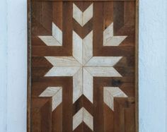Reclaimed Wood Wall Art Wall Decor Lath Art Dark by PastReclaimed