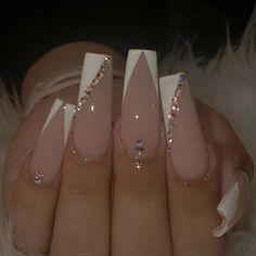Acrylic Nails Coffin Pink, Long Square Acrylic Nails, Simple Acrylic Nails, Summer Acrylic Nails, Coffin Nails, Dope Nails, Bling Nails, Swag Nails, Grunge Nails
