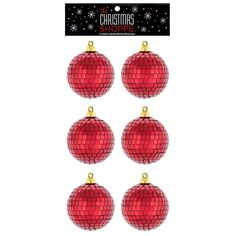 Red Disco Ball Ornaments