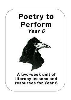 Classic Performance Poetry Unit Year 6 (Edgar Allan Poe)