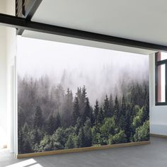 Temporary wall decal / wallpaper :Misty Forest