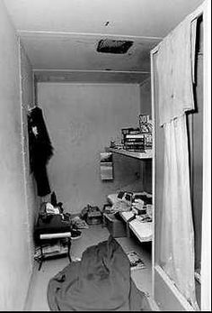 The cell Ted Bundy escaped from on 30th December 1977 (by cutting a hole in the ceiling).