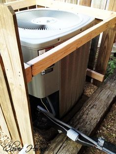Clover House: Fence Picket A/C Unit Cover