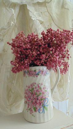 Roze peperbesjes....