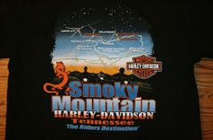 HARLEY DAVIDSON Motorcycles SMOKY MOUNTAINS Tennessee 2007 T-SHIRT-M-FREE SHIP