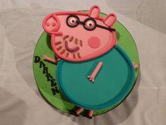 Daddy pig cake made for my husband, red velvet cake. Daddy Birthday, Third Birthday, Birthday Cake, Birthday Parties, Birthday Ideas, Velvet Cake, Red Velvet, Cupcake Cakes, Cupcakes