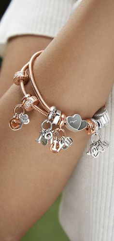 Three words, two hearts, one meaning. Write the story of you and your special someone this Valentine's Day with PANDORA's new charms and bracelets.