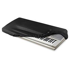 AZMUSIC Protective Dust Cover for Electronic Keyboard and Digital Piano Fits 76 to 88 Keys Black