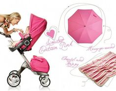 Just spotted – Stokke Limited Edition pink Xplory!