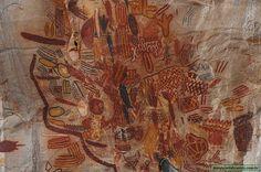 No Parque Nacional Cavernas do Peruaçu encontram-se muitas pinturas rupestres nas grutas e cavernas locais, evidências da presença humana. Mais de 80 sítios arqueológicos são encontrados na região. Fotografia: José Israel Abrantes.