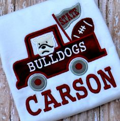 Mississippi State Bulldog football Applique by TheTurtleTrain, $25.00
