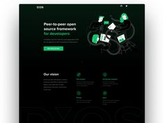 DXOS Landing page by Natalie Kirejczyk Web Design, Landing Page Design, Screen Design, Open Source, Say Hello, Cool Words, Desktop, Photoshop, Training
