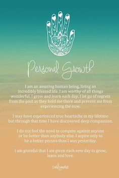 daily inspirational quotes  http://www.positivewordsthatstartwith.com/     Affirmation - Personal Growth by CarlyMarie Positive Mindset, Success Mindset, Staying Positive, Blessings, Mother Earth, Card Reading, Peace And Love, Grateful, Fill