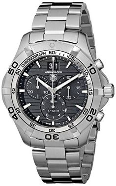 TAG Heuer Men's CAF101E.BA0821 Aquaracer Black Dial Watch #best #sellers #luxury #watches
