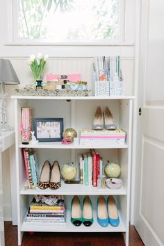 Great way to display your favorite things (shoes included) via: Glitter Guide Founder In Elle Magazine May 2013