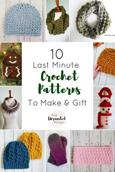 10 last minute crochet patterns to make and give this Christmas | Free crochet pattern Round up | The unraveled Mitten #crochetchristmas #crochet #crochetgift