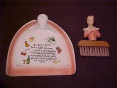 RARE ENESCO KITCHEN PRAYER LADY CRUMB AND BRUSH PAN EXCELLENT CONDITION $300
