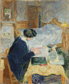 Edouard Vuillard - Lucy Hessel Reading (Lucy Hessel lisant)