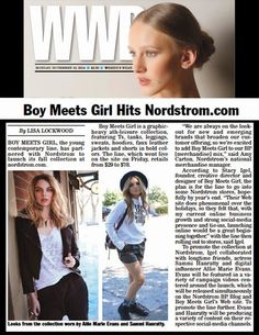 STACY IGEL: My other baby...Boy Meets Girl Hits Nordstrom.com!
