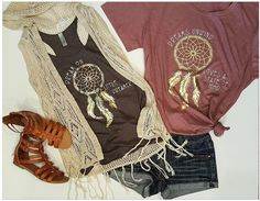 Our Dreamcatcher Tees in Earthy Tones are everything!!