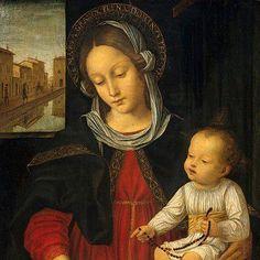 Madonna col bambino del Bergognone