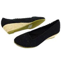 Damen Schuhe Häkel Sommer Leinen Keil Absatz Pumps Größen 36 - 41 - negro - negro, 41 - http://on-line-kaufen.de/generic/41-eu-damen-schwarz-haekel-sommer-zum-hessisch-3-8