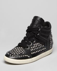 Ash Lace Up High Top Sneakers