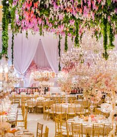 Wisteria + Crystal Chandeliers - Heavenly Bat Mitzvah | White Lilac Inc.