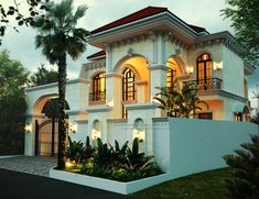 Philipe Private House - Jakarta- Quality house design of architectural services, experienced professional Bali Villa Tropical designs from Emporio Architect. House Structure Design, House Gate Design, Bungalow House Design, House Front Design, Villa Design, Bali Villa, Santorini, Architecture Design, Design Architect