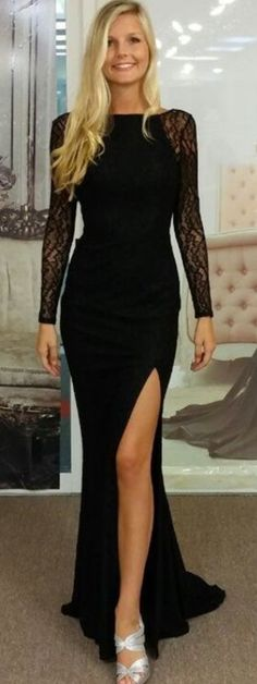 Black Prom Dresses,Elegant Prom Dre