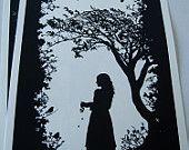 A3 Snow White Silhouette Print 117 x 165 by LBARRETTillustration