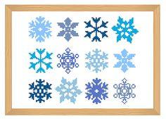 snowflake cross stitch pattern snowflake simple by ILoveMyDesigns