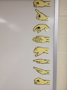 Good bye, old hand signs! You have served me well for 7 years . Even though you were laminated, your thin pink paper is still curled ...