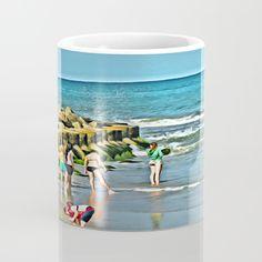 day, beach, ocean, children...