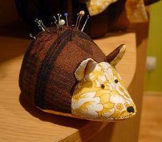 Eu Amo Artesanato: Peixinho, agulheiro de tartaruga e ratinho com molde